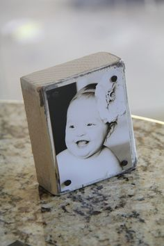 DIY nailhead photo blocks. How great would these be as gifts for family and friends??!!