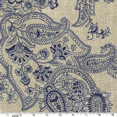 Beautiful fabric sample, Paisley in blue Textile Patterns, Textile Design, Embroidery Patterns, Fabric Design, Print Patterns, Pattern Design, Paisley Design, Paisley Pattern, Paisley Print