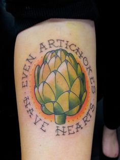 Victorias first tattoo! #amelie #artichoketattoo #movietattoo #artichoke #tattoo