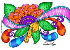 """""""Take It Up A Level"""" - by Debi Payne    Copyright by Debi Payne Designs"""