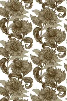 Timorous Beasties Wallcoverings - Paradisical Flower Solid Wallcovering