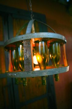Wine Barrel Chandelier by FALLENOAKDESIGNS on Etsy,