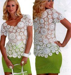 Toca do tricot e crochet: Blusa crochet Irlandês !!!