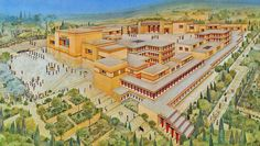 minoan civilization | Minoan Civilization. The Palace of Knossos  Around 1450 BC, Minoan culture experienced a turning point due to a natural catastrophe, possibly an earthquake. Another eruption of the Thera volcano has been linked to this downfall, but its dating and implications remain controversial. Several important palaces in locations such as Mallia, Tylissos, Phaistos, Hagia Triade as well as the living quarters of Knossos were destroyed. The palace in Knossos seems to have remained…