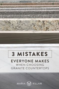 There's one more mistake I see all the time with granite countertops and that is: For the most part, granite doesn't look good with trendy, current, geometric tile. Even if it's plain and white. While granite might seem like the most up-to-date and current choice, marble or quartz is what everyone is doing right now in 2021. Wren Kitchen, Kitchen Shop, White Kitchen Decor, White Kitchen Cabinets, Granite Suppliers, Hydrangea Garden, New Kitchen Designs, Geometric Tiles, Interior Work