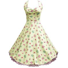 LaFrocks Polly Anna vintage cream floral tea party prom dress