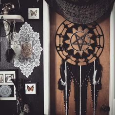 This beauty is on sale in the shop ✌ Check it out here ~ http://aurvgon.com/collections/dream-catchers/products/witch-craft-dream-catcher