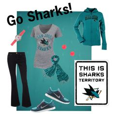 San Jose Sharks inspired outfit (: