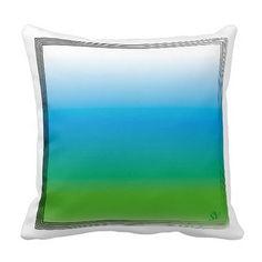 Degraded square design, white, blue, green