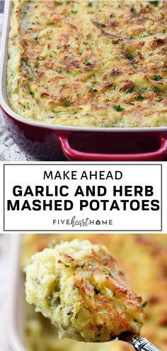 Make-Ahead Garlic & Herb Mashed Potatoes