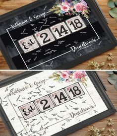 rustic wedding guest book alternative personalized wedding