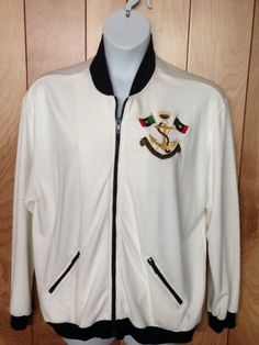 WOMEN'S ALFRED DUNNER WOMAN FULL ZIP NAUTICAL JACKET-SIZE: XL #ALFREDDUNNER #BasicJacket