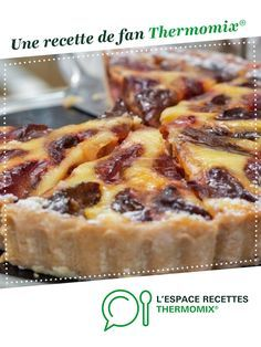 Plum pie with Alsatian, by A fan recipe to find in the category Pies and savory pies, pizzas on www.espace-recett …, from Thermomix®. Crepe Recipes, Tart Recipes, Pizza Recipes, Easy Delicious Recipes, Yummy Food, Plum Pie, Mousse, Thermomix Desserts, Plum Cake