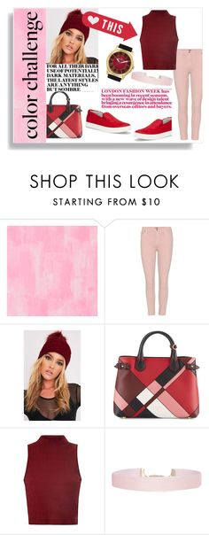 """pink&red"" by naomi-logon ❤ liked on Polyvore featuring Designers Guild, Citizens of Humanity, Burberry, Glamorous, Humble Chic, Bernoulli, colorchallenge and redandpink"