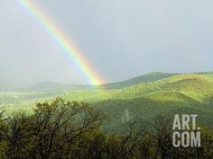A Large Rainbow over the Shenandoah Valley in Late Afternoon Photographic Print by Darlyne A. Murawski at Art.com