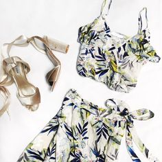 You're all set! ✨  Tropical Breeze Crop Top  Tropical Breeze Wrap Skirt  Gift Wrap Velour Heels