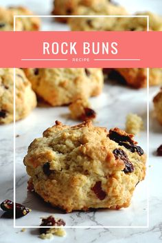 Allow to cool a little on their trays before transferring to a wire rack to cool completely. Although rock buns are best enjoyed when still a little warm from the oven! Baking Recipes, Cookie Recipes, Dessert Recipes, Desserts, Rock Cookies Recipe, Dinner Recipes, Bun Recipe, Biscuits, Small Cake