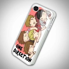 One Direction Cartoon Boyband - IPh.. (22 AUD) ❤ liked on Polyvore featuring accessories, tech accessories, phone cases, one direction, phones, iphone and comic book