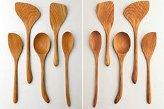 Left & Right-Handed Wood Spoons from Shaker Workshops