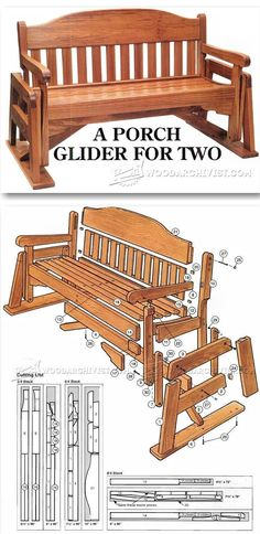 Porch Glider Plans - Outdoor Furniture Plans & Projects | WoodArchivist.com #WoodworkingPlans #diywoodprojects