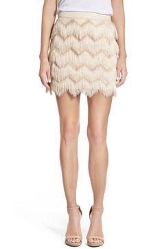 Ella Moss 'Stardust' Zigzag Fringe Skirt