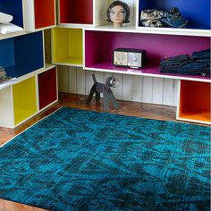 Hand spun woolen rug