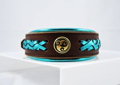Exclusive Custom Leather Dog Collars, Artisan Dog Collars, Beaded Dog Collars, Beautiful Braided Collars, made with highest quality material, Made in the USA 100%