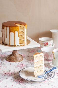 receta layer cake miel