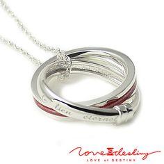 Never undo the love of Destiny Love L'Amour W ring VOL.1 red thread women's Necklace (single menu) LOD-018L