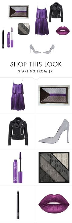"""""""Demisexual pride"""" by person-who-hates-people ❤ liked on Polyvore featuring Halston Heritage, Topshop, NYX, Burberry, NARS Cosmetics and Lime Crime"""