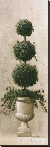 Three Ball Topiary Reproducción en lienzo de la lámina por Welby en AllPosters.es