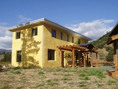 """two-story earthbag """"At a time when the world is in a economic crisis and nature is under attack; lets make these strong, affordable, earth friendly and easy to build earthbag homes MAINSTREAM!!!"""""""