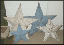 Amish Made Tin Barn Stars **Wonderful** - Metal Star