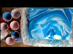 3 Pours & VQA For Christy - Can you do a pour over a varnished canvas? - YouTube