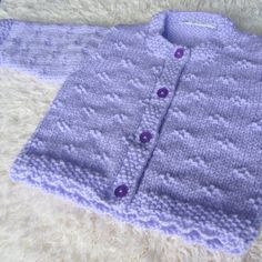 Hand Knitted Baby Cardigan by jayceeoriginals on Etsy,