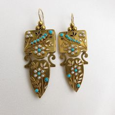 Victorian Turquoise Earrings
