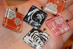 Great Gift Idea - Easy DIY tile pendants - http://treyandlucy.blogspot.com/