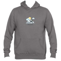 Moab, Utah Mountains and Clouds in Color - Men's Hooded Sweatshirt/Hoodie