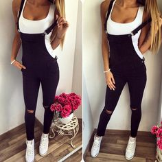 ada9f1a21d Women Slim Fit Denim Jeans Full Length Overall Jumpsuit Dungaree Playsuit  Romper  fashion  clothing
