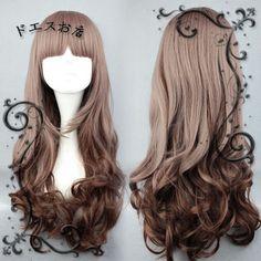 Harajuku Department Lolita Fashion Gradual Change Long Curly Cosplay Wigs | eBay