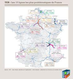 Points noirs - Transports régionaux - Carte