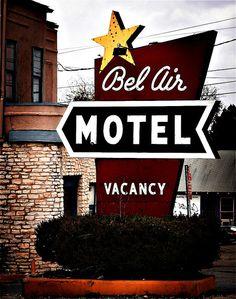 vintage motel sign - austin, tx.