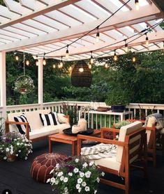 Budget Patio, Patio Diy, Patio Pergola, Patio Seating, Backyard Patio, Patio Ideas, Backyard Ideas, Terrace Ideas, Backyard Projects