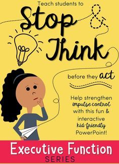 Kid-friendly interactive PowerPoint on impulse control. Bundle the series and save Many bright and capable students don't succeed like they should because of deficits in their executive skills, such as impulse control. Counseling Activities, Therapy Activities, Articulation Activities, Preschool Activities, Coping Skills, Social Skills, Life Skills, Impulse Control, School Social Work