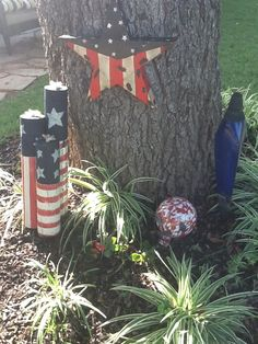 4th of july metal yard decorations