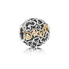 Charm Sterling Silver Disney Dream w/14K Gold