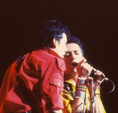 The Clash - Joe Strummer, Mick Jones.