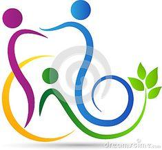 Logotipo del cuidado dental de la familia