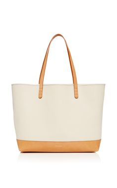 Large Canvas Tote In Creme With Creme Interior by Mansur Gavriel for Preorder on Moda Operandi