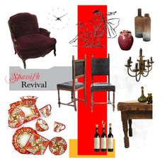 """""""Project Decorate: Spanish Revivial"""" by fl4u ❤ liked on Polyvore featuring interior, interiors, interior design, hogar, home decor, interior decorating, Pottery Barn, AERIN, nomon y Fall"""